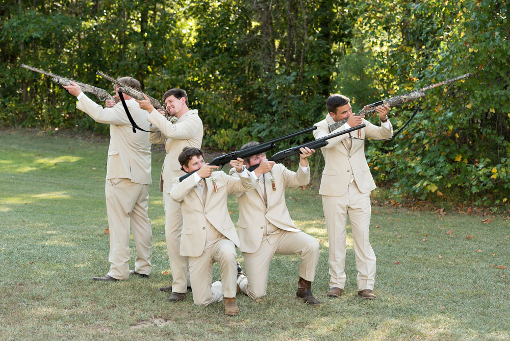 Appropriate Wedding Gift From Groom To Bride : The groom s favorite guys gave him a rifle as a wedding gift. It ...