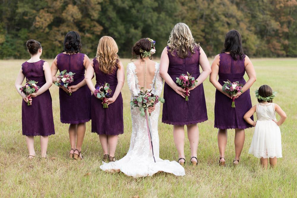 purple bridesmaid gown tuscaloosa wedding