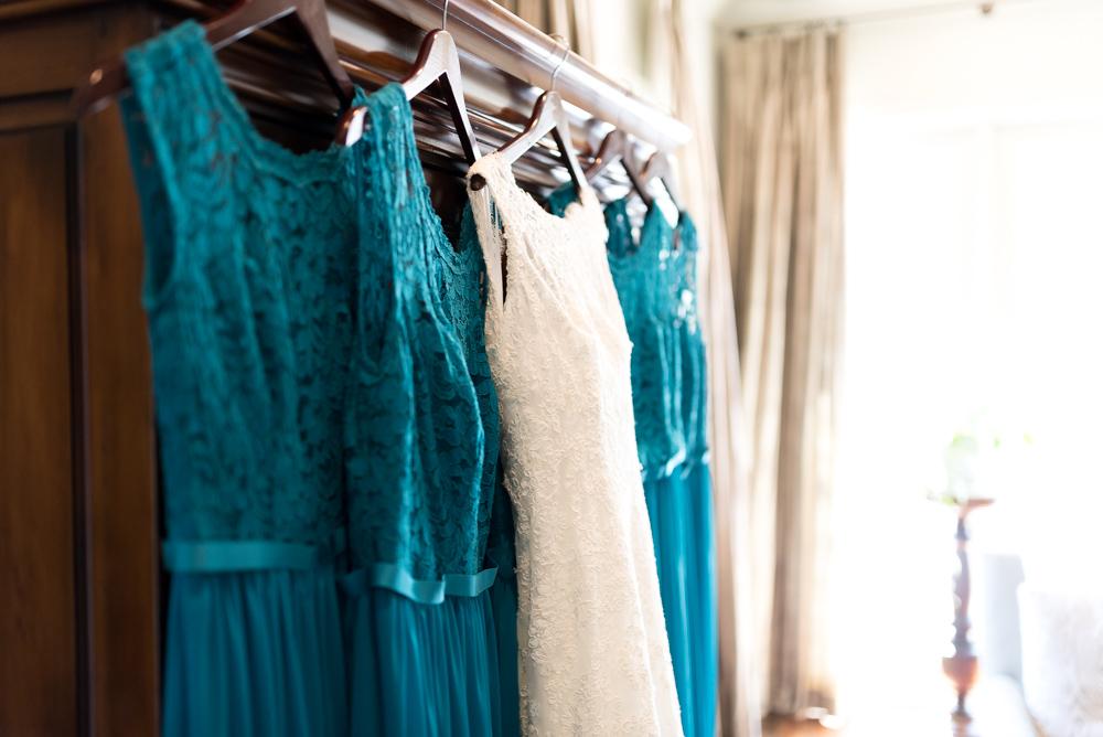 teal bridesmaids gowns in tuscaloosa alabama