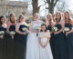 tuscaloosa bridesmaids in navy gowns