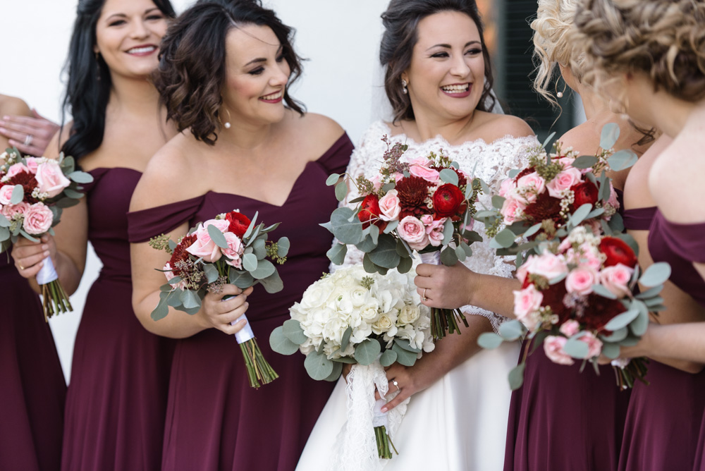 bridesmaids laughing birmingham photographer